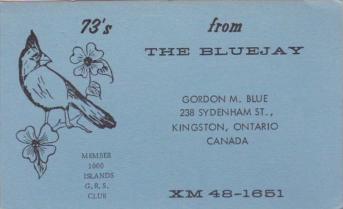 XM48-1651 Gordon M Blue Kingston Ontario Canada