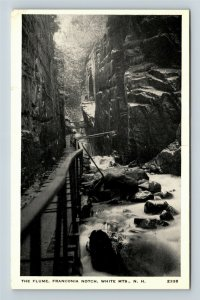 White Mountains, Franconia Notch, The Flume, Chrome New Hampshire Postcard