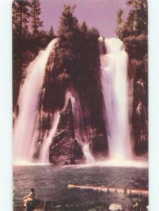 Pre-1980 WATERFALL SCENE Burney Falls - Near Redding California CA E4473