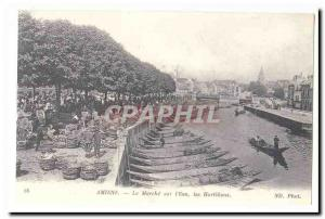Amiens Old Postcard The walk on the & # 39eau Hortillons (reproduction)