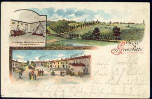 france, GRAVELOTTE, Panorama, Street Scene (1899) Stamp
