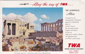Advertising Trans World Airways To Greece
