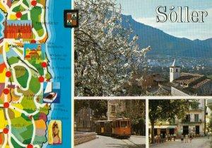 Soller , Mallorca, Spain , 1950-70s ; Map