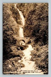 RPPC of Columbia River Highway OR, Wah-Kee-Na Falls, Oregon Postcard