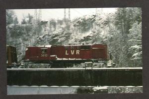 NH Lamoille Valley Railroad Train BATH NEW HAMPSHIRE RR