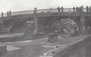 Waterloo Bridge Old Runcorn Cheshire Postcard