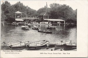 Boat House Central Park NY New York Unused Loeffler Postcard F37