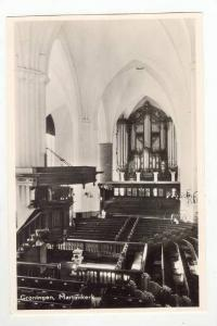 RP: Interior of Cathedral / Martinikerk,Groninger,Netherlands 1930-40s ; Pipe...