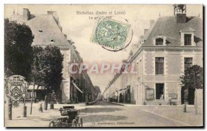 Old Postcard Richelieu Grande Rue Automotive