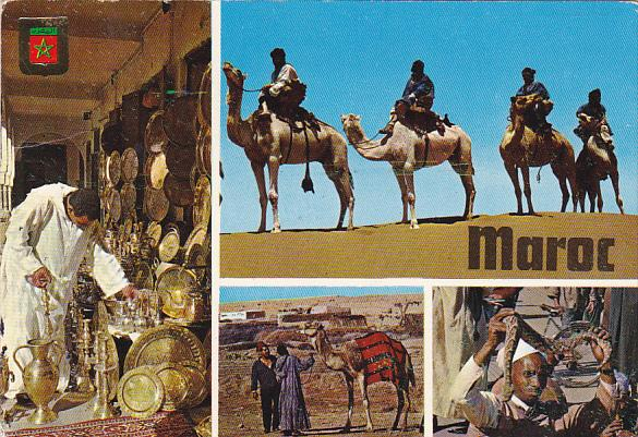 Morocco Multi View Camels Snake Charmer