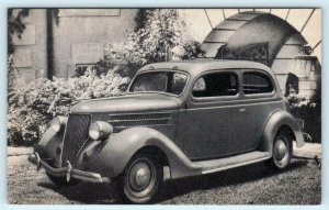 Automobile Car Advertising 1936 FORD TWO DOOR SEDAN  Postcard