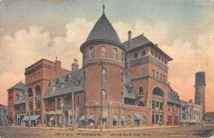 Americus Georgia Hotel Windsor Hand Colored Vintage Postcard AA37863