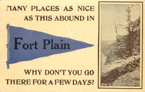 Fort Plain NY Many Places, Nice Like This, Abound; Go There For A Few Days 1915
