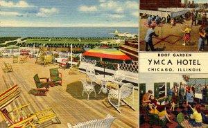 IL - Chicago. YMCA Hotel, Roof Garden