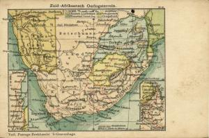 BOER WAR, South-African War Zone Map Postcard (1900) Postcard