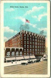 Omaha, Nebraska Postcard HOTEL CASTLE Street View c1920s Not Postally Used