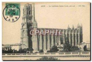 Old Postcard Albi La Cathedrale Sainte Cecile south coast