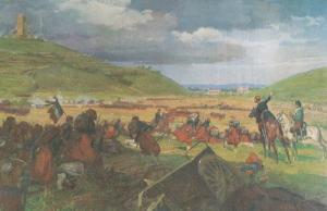 Battaglia Battle Of San Martino Solferino Napoleon III Painting Postcard