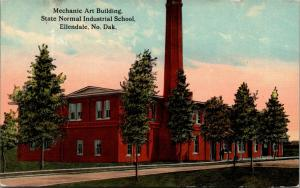 Ellendale ND~Smokestack Chimney~Normal Industrial School~Mechanic Art Bldg~1910