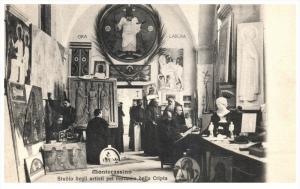 19829 Italy Cassino 1905 Montecassino Studio degi artisi pel restauro della C...