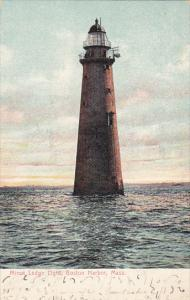 Minot Ledge Lighthouse Boston Harbor Massachusetts 1907