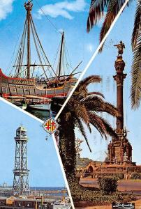 Spain Barcelona ship schiff, monument statue