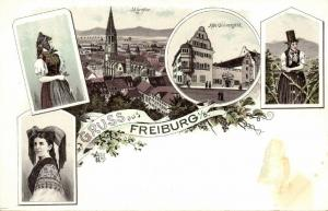 germany, FREIBURG, Multiview, Münster, University, Traditional Costumes (1899)