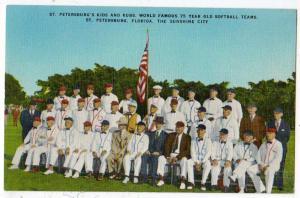 St Petersburg Kids & Kubs Worlds Famous 75 yr old Softball T
