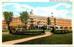 Michigan Bay City Wenonah Hotel Curteich