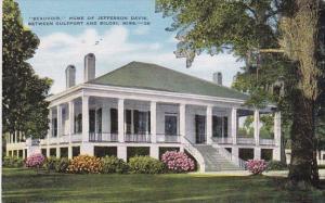 Mississippi Biloxi Beauvoir Home Of Jefferson Davis Between Gulfport And Biloxi