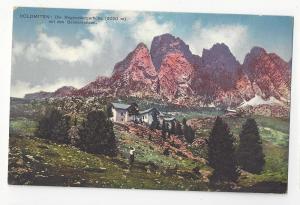 Italy Alps Dolomiten Sudtirol Regensburger Hutte Postcard