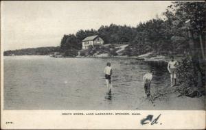 Spencer MA South Shore Lake Lashaway c1905 Postcard