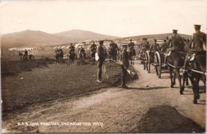 RFA Gun Practice Okehampton Devon UK Military c1916 RPPC Postcard E26