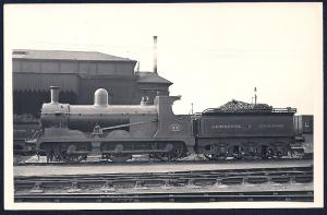LANCASHIRE & YORKSHIRE Railroad Locomotive #89 RPPC unused