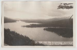 BIG BEAR LAKE CA AERIAL VIEW rppc Postcard real photo