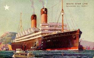 White Star Line - SS Doric. Artist: Walter Thomas
