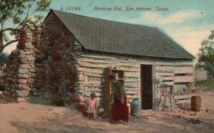 Vintage Postcard 1910's Mexican Hut San Antonio, Texas TX Pub by Acmegraph Co.
