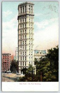 New York City~St Paul Building Skyscraper~222 Broadway~Demolished 1958~c1910