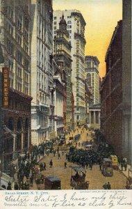 Broad Street, Manhattan, New York City, N.Y., Early Postcard
