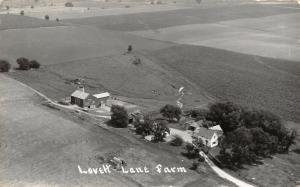 Pecatonica Illinois~Lovett Lane Farm Birdseye Barns & Home~1960 Real Photo~RPPC