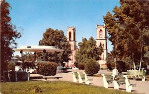 Panama Old Vintage Antique Post Card Cervantes Park and Church of the Holy Fa...