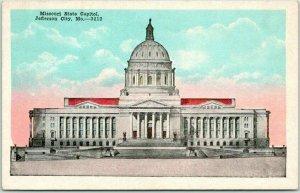 Jefferson City Missouri Postcard State Capitol Building Front View / 1920 Cancel