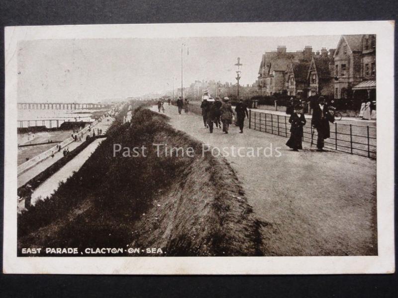 Essex: Clacton on Sea - East Parade c1919 Old Postcard