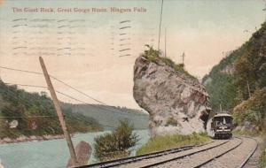 New York Niagara Falls The GIant Rock Great Gorge Route 1911
