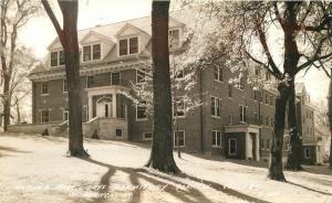Dormitory Merner Hall 1930s Mount Vernon Iowa College RPPC real photo 2223 Cook