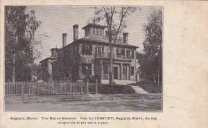 Maine Augusta The Blaine Mansion Public By Comfort