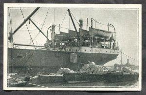 dc420 - CEYLON Sri Lanka 1920s Ship In Colombo Harbor. Salada Tea ADVERTISING