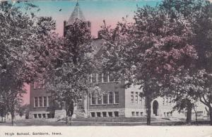 Street view showing High School, Sanborn, Iowa, PU-00-10s
