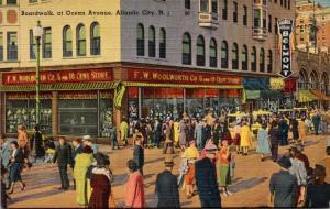 New Jersey Atlantic City Boardwalk At Ocean Avenue Woolworth