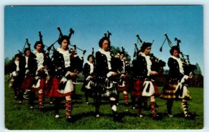 NEW GLASGOW, Nova Scotia Canada ~ GIRLS HIGHLAND PIPE BAND c1960s  Postcard